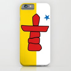 Nunavut territory flag- Authentic version with Inukshuk and blue star iPhone 6s Slim Case