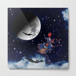 haif month nebula Metal Print