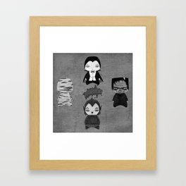 A Boy - Universal Monsters Black & White édition Framed Art Print