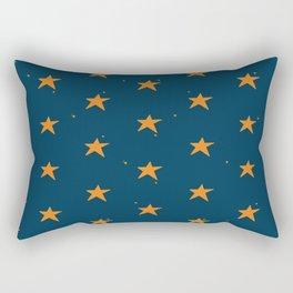 Lazy Stars (Blueberry/Tangerine) Rectangular Pillow