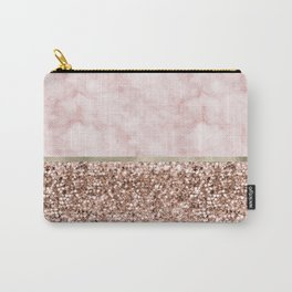 Warm chromatic - pink marble Carry-All Pouch