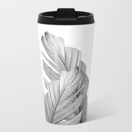 Gray Banana Leaves Dream #1 #tropical #decor #art #society6 Travel Mug