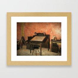 Antique Nautical Desk  Framed Art Print