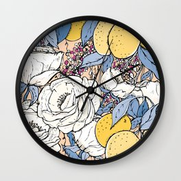 Garden stories. Sunset Wall Clock