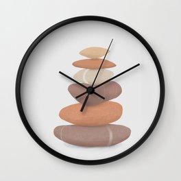 rock pile: minimalist balancing stones Wall Clock
