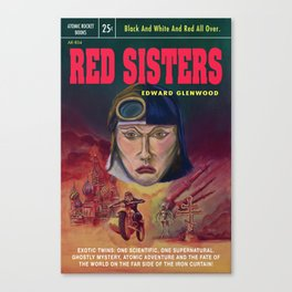 """Red Sisters"" Book Cover Canvas Print"