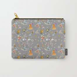 Robots on Gray  Carry-All Pouch