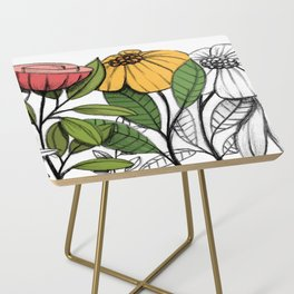 First summer blooms Side Table