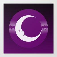 luna Canvas Prints featuring Luna by tuditees
