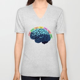 My Brain Has Too Many Tabs Open Unisex V-Neck