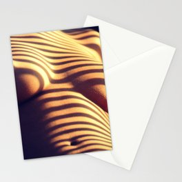Striped (Nude Photography) Stationery Cards