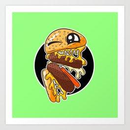 Fast Food FRENZY - Cheezy Craig Art Print