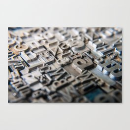 Old Metal Letters Canvas Print