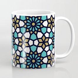 Persian Mosaic – Turquoise & Gold Palette Coffee Mug