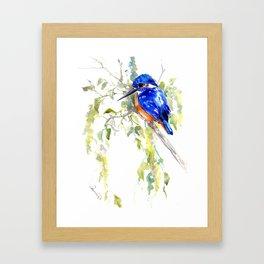 Kingfisher on the Tree Framed Art Print