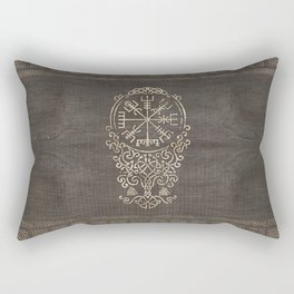 Vegvisir and Tree of life  - Yggdrasil Rectangular Pillow