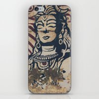 hindu iPhone & iPod Skins featuring Hindu mural by Rick Onorato