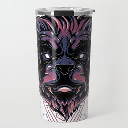 The Mythical Bear sacred geometry Travel Mug