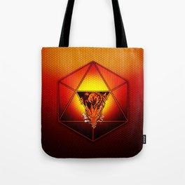d20 Lucky Dragon Tote Bag
