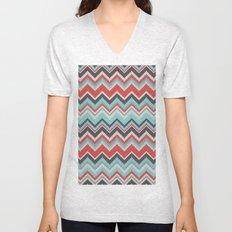 Aztec chevron pattern- grey Unisex V-Neck