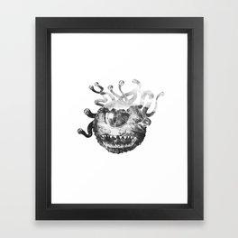 Beholder (Black & White) Framed Art Print