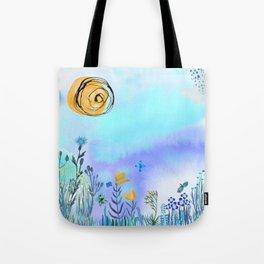 Blue Garden II Tote Bag
