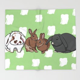 Mopsey Cottontail Tuppence Florin Throw Blanket