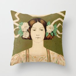1895 Buffalo Courier for women  New York Throw Pillow