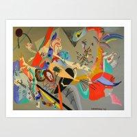 kandinsky Art Prints featuring Kandinsky Composition Study by Andrew Sherman