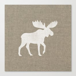 Moose Silhouette Canvas Print