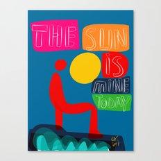 The sun is mine today illustration Canvas Print