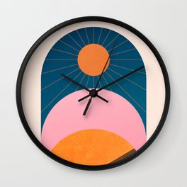 Abstraction_Sunshine_Minimalism_001 Wall Clock