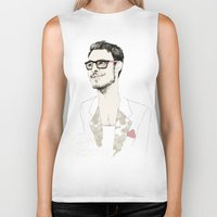 chad wys Biker Tanks featuring I´m hipster  by Cecilia Sánchez