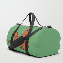 Vizslas on Green Duffle Bag