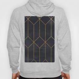Black & Gold Geometric Art Deco Pattern Seamless Vintage Glamorous 1920s Style Hoody