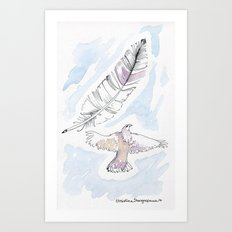 Hawk in the Sky Art Print