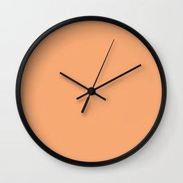 Bearded Iris Orange Harvest ~ Peach Wall Clock