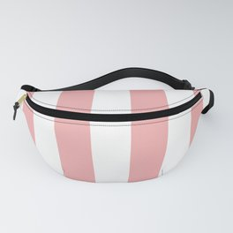 Large Blush Pink and White Beach Hut Stripes Fanny Pack