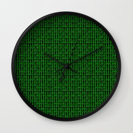 Binary Green Wall Clock