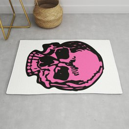 Hot Pink Pirate Skull, Vibrant Skull, Super Smooth Super Sharp 9000px x 11250px PNG Rug