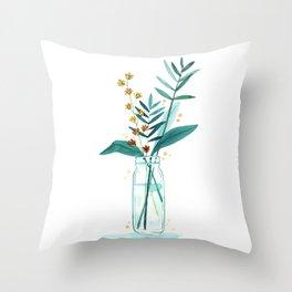 Fresh Cut Flowers 3 - Floral Throw Pillow