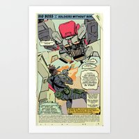 Big Boss and His Soldiers Without Borders Art Print