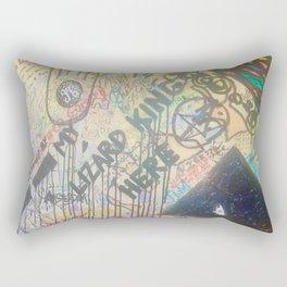 Lizard King Morrison Graffiti Room 32 Rectangular Pillow