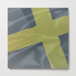 Silk Flag of Saint David Metal Print