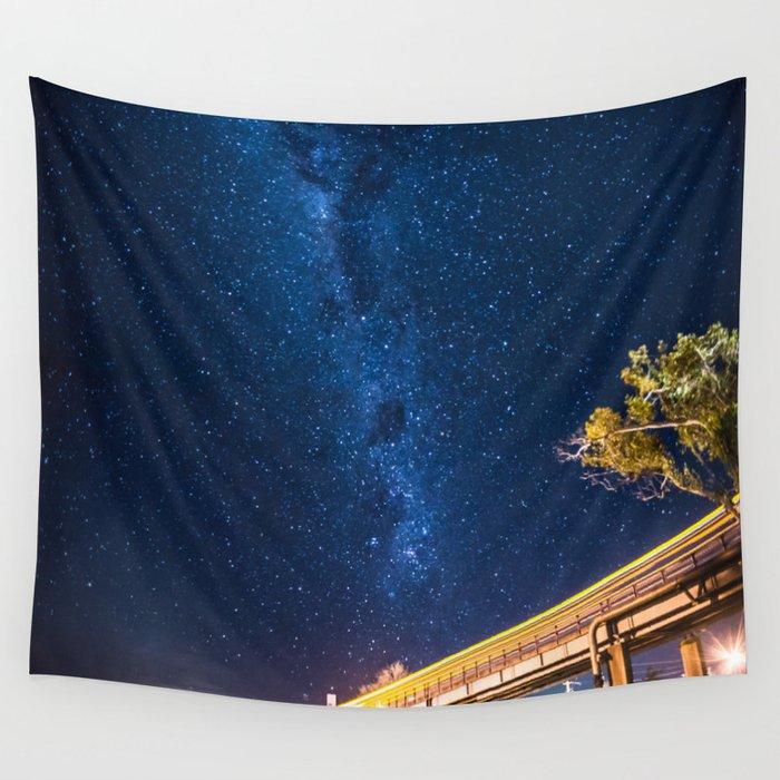 Milky Way Bridge Wall Tapestry