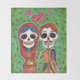 Te Amo Day of the Dead Throw Blanket
