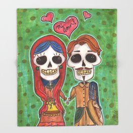 Te Amo Day of the Dead Throw Blanket