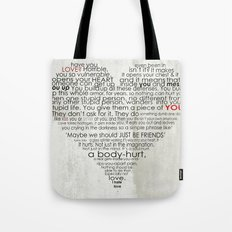 I hate love Tote Bag