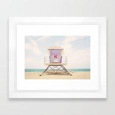 Lifeguard Tower 2  Framed Art Print