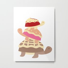 Turtle Pies Family Metal Print